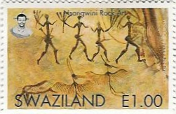 Nsangwinin rock art post stamp